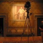 Palazzo Collacchioni - Sansepolcro (AR). Studio dell'affresco raffigurante L'Ercole, copia moderna di Elia Volpi del dipinto di Piero della Francesca.