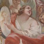 Palazzo Gini - Prato. Restauro di pitture murali del XVIII sec. Sala di Apollo, D.L. per il restauro della volta affrescata.