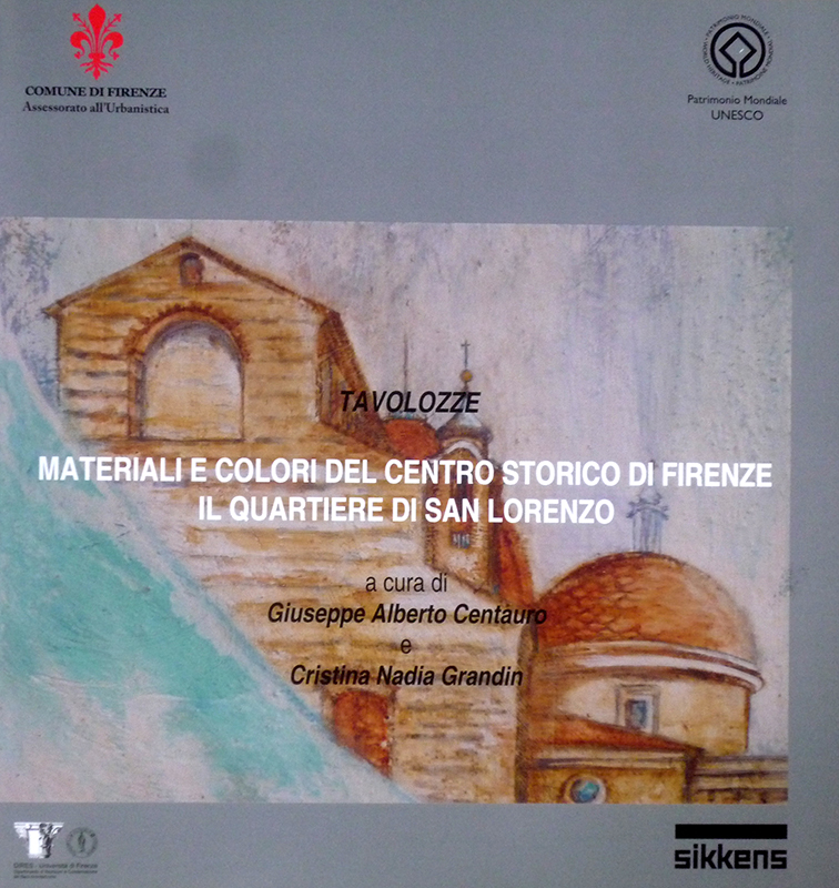 Carta Colori del Centro Storico di Firenze: Quartiere San Lorenzo