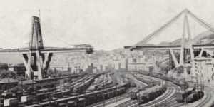 Fasi di costruzione del ponte sul Polcevera (1963/ 1967) (Fonte: Società italiana per le Condotte dell'Acqua)